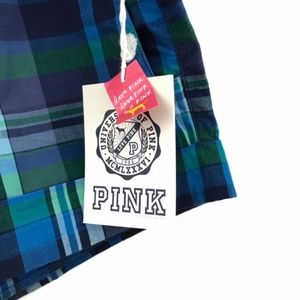 PINK Victoria's Secret Shorts - Pink Victoria's Secret Blue Green Plaid Shorts